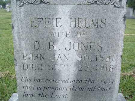 HELMS JONES, EFFIE - Montgomery County, Virginia | EFFIE HELMS JONES - Virginia Gravestone Photos
