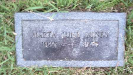 JONES, MARTHA JUNE - Montgomery County, Virginia | MARTHA JUNE JONES - Virginia Gravestone Photos