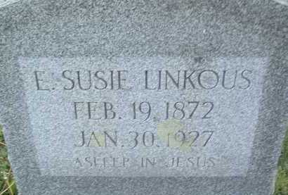LINKOUS, E. SUSIE - Montgomery County, Virginia | E. SUSIE LINKOUS - Virginia Gravestone Photos