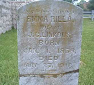 LINKOUS, EMMA RILLA - Montgomery County, Virginia | EMMA RILLA LINKOUS - Virginia Gravestone Photos