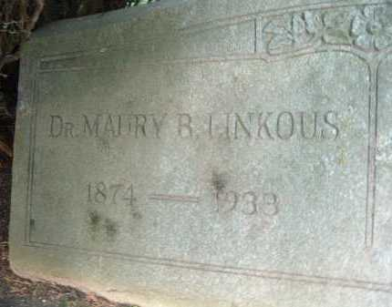 LINKOUS, MAURY B. - Montgomery County, Virginia | MAURY B. LINKOUS - Virginia Gravestone Photos