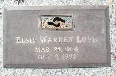 LOVE, ELSIE WARREN - Montgomery County, Virginia | ELSIE WARREN LOVE - Virginia Gravestone Photos