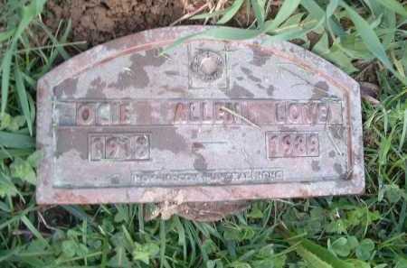 LOVE, OCIE ALLEN - Montgomery County, Virginia   OCIE ALLEN LOVE - Virginia Gravestone Photos