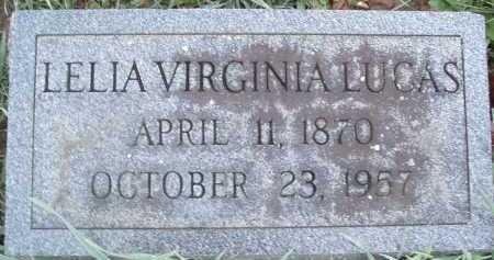 LUCAS, LELIA VIRGINIA - Montgomery County, Virginia | LELIA VIRGINIA LUCAS - Virginia Gravestone Photos
