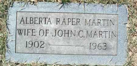 MARTIN, ALBERTA RAPER - Montgomery County, Virginia | ALBERTA RAPER MARTIN - Virginia Gravestone Photos