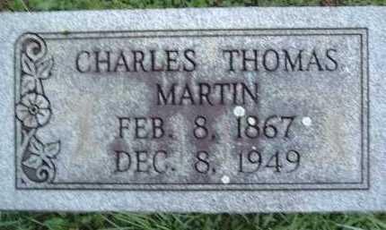 MARTIN, CHARLES THOMAS - Montgomery County, Virginia   CHARLES THOMAS MARTIN - Virginia Gravestone Photos