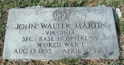 MARTIN, JOHN WALTER - Montgomery County, Virginia | JOHN WALTER MARTIN - Virginia Gravestone Photos