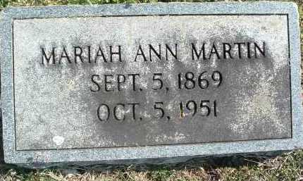 MARTIN, MARIAH ANN - Montgomery County, Virginia   MARIAH ANN MARTIN - Virginia Gravestone Photos