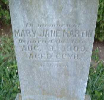MARTIN, MARY JANE - Montgomery County, Virginia | MARY JANE MARTIN - Virginia Gravestone Photos