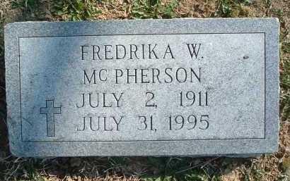 MCPHERSON, FREDRIKA W. - Montgomery County, Virginia   FREDRIKA W. MCPHERSON - Virginia Gravestone Photos