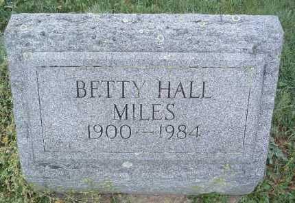 HALL MILES, BETTY - Montgomery County, Virginia | BETTY HALL MILES - Virginia Gravestone Photos