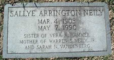 ARRINGTON NEILY, SALLYE - Montgomery County, Virginia | SALLYE ARRINGTON NEILY - Virginia Gravestone Photos