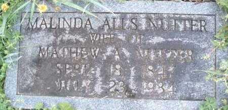 ALLS NUTTER, MALINDA - Montgomery County, Virginia | MALINDA ALLS NUTTER - Virginia Gravestone Photos