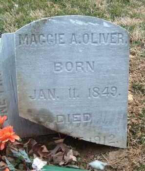 OLIVER, MAGGIE A. - Montgomery County, Virginia   MAGGIE A. OLIVER - Virginia Gravestone Photos
