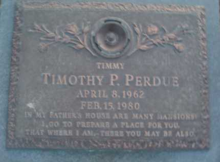 """PERDUE, """"TIMMY"""" TIMOTHEY P. - Montgomery County, Virginia 