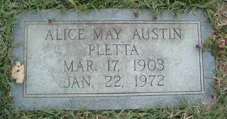 AUSTIN PLETTA, ALICE MAY - Montgomery County, Virginia | ALICE MAY AUSTIN PLETTA - Virginia Gravestone Photos