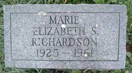 RICHARDSON, ELIZABETH S. - Montgomery County, Virginia   ELIZABETH S. RICHARDSON - Virginia Gravestone Photos