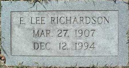 RICHARDSON, E. LEE - Montgomery County, Virginia   E. LEE RICHARDSON - Virginia Gravestone Photos