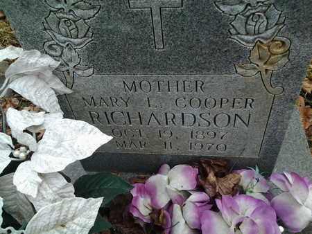 RICHARDSON, MARY - Montgomery County, Virginia | MARY RICHARDSON - Virginia Gravestone Photos