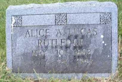 LUCAS RUTLEDGE, ALICA A. - Montgomery County, Virginia   ALICA A. LUCAS RUTLEDGE - Virginia Gravestone Photos