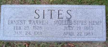 SITES, ERNEST WARREN - Montgomery County, Virginia | ERNEST WARREN SITES - Virginia Gravestone Photos
