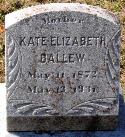 BALLEW, KATE ELIZABETH - Nelson County, Virginia   KATE ELIZABETH BALLEW - Virginia Gravestone Photos