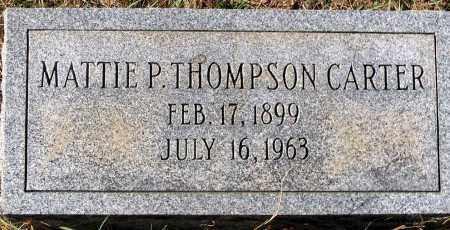 THOMPSON CARTER, MATTIE P. - Nelson County, Virginia   MATTIE P. THOMPSON CARTER - Virginia Gravestone Photos
