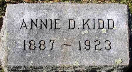 KIDD, ANNIE D. - Nelson County, Virginia   ANNIE D. KIDD - Virginia Gravestone Photos
