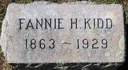 KIDD, FANNIE H. - Nelson County, Virginia   FANNIE H. KIDD - Virginia Gravestone Photos