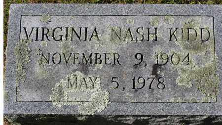 KIDD, VIRGINIA NASH - Nelson County, Virginia | VIRGINIA NASH KIDD - Virginia Gravestone Photos
