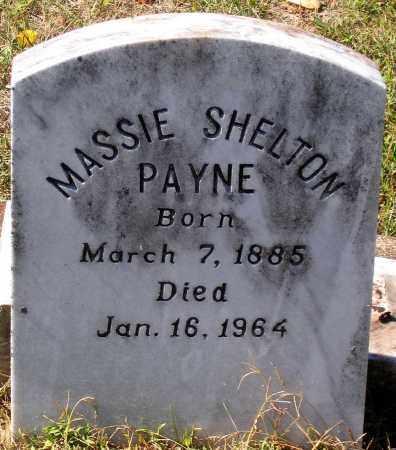 PAYNE, MASSIE SHELTON - Nelson County, Virginia | MASSIE SHELTON PAYNE - Virginia Gravestone Photos