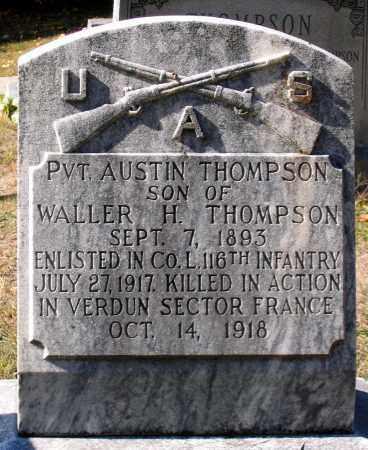 THOMPSON, AUSTIN - Nelson County, Virginia | AUSTIN THOMPSON - Virginia Gravestone Photos