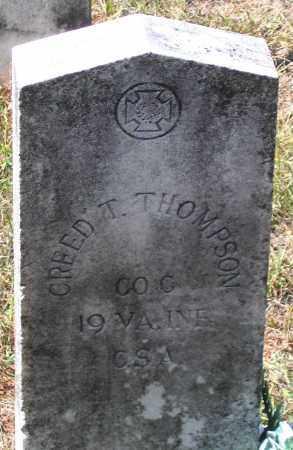 THOMPSON, CREED T. - Nelson County, Virginia | CREED T. THOMPSON - Virginia Gravestone Photos