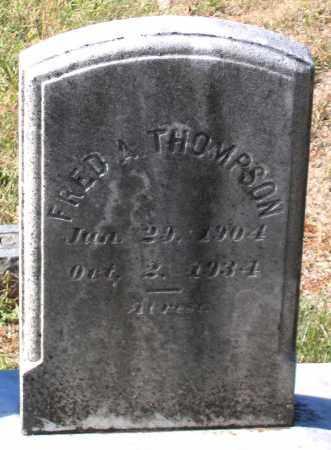THOMPSON, FRED A. - Nelson County, Virginia   FRED A. THOMPSON - Virginia Gravestone Photos