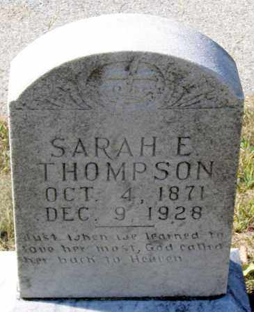 THOMPSON, SARAH E. - Nelson County, Virginia | SARAH E. THOMPSON - Virginia Gravestone Photos