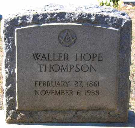 THOMPSON, WALTER HOPE - Nelson County, Virginia | WALTER HOPE THOMPSON - Virginia Gravestone Photos
