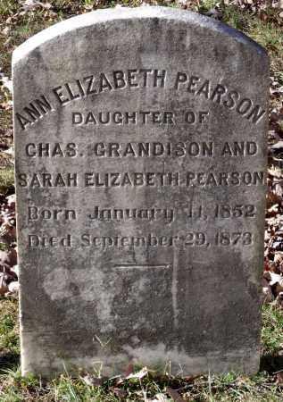 PEARSON, ANN ELIZABETH - New Kent County, Virginia | ANN ELIZABETH PEARSON - Virginia Gravestone Photos