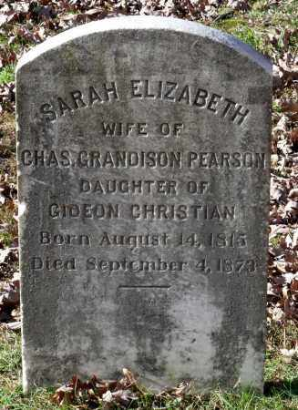 CHRISTIAN PEARSON, SARAH ELIZABETH - New Kent County, Virginia | SARAH ELIZABETH CHRISTIAN PEARSON - Virginia Gravestone Photos