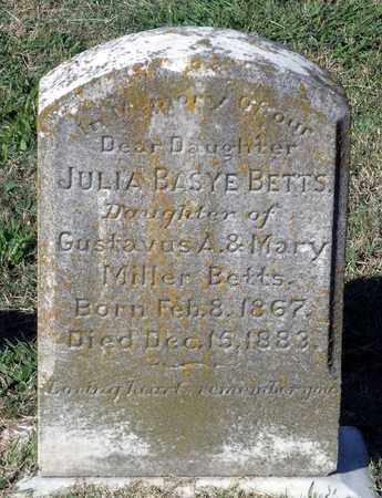 BETTS, JULIA BASYE - Northumberland County, Virginia | JULIA BASYE BETTS - Virginia Gravestone Photos