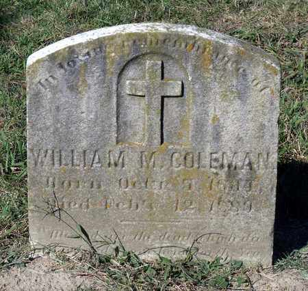COLEMAN, WILLIAM M. - Northumberland County, Virginia | WILLIAM M. COLEMAN - Virginia Gravestone Photos