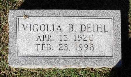 DEIHL, VIGOLIA B. - Northumberland County, Virginia | VIGOLIA B. DEIHL - Virginia Gravestone Photos
