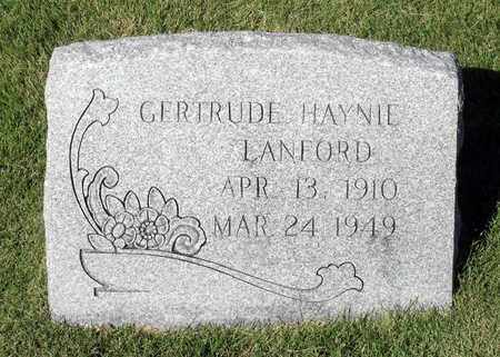 HAYNIE LANFORD, GERTRUDE - Northumberland County, Virginia | GERTRUDE HAYNIE LANFORD - Virginia Gravestone Photos