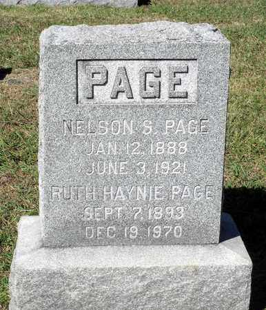 PAGE, NELSON S. - Northumberland County, Virginia | NELSON S. PAGE - Virginia Gravestone Photos
