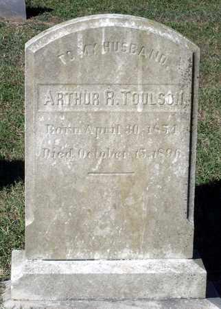 TOULSON, ARTHUR R. - Northumberland County, Virginia | ARTHUR R. TOULSON - Virginia Gravestone Photos