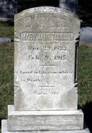 TOULSON, MARY JANE - Northumberland County, Virginia   MARY JANE TOULSON - Virginia Gravestone Photos