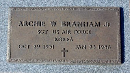 BRANHAM, ARCHIE W. JR. - Orange County, Virginia | ARCHIE W. JR. BRANHAM - Virginia Gravestone Photos