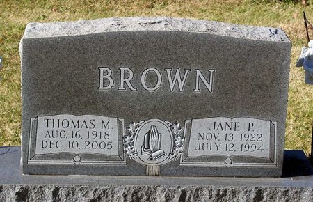 BROWN, THOMAS M. - Orange County, Virginia | THOMAS M. BROWN - Virginia Gravestone Photos