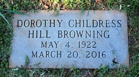 BROWNING, DOROTHY CHILDRESS HILL - Orange County, Virginia | DOROTHY CHILDRESS HILL BROWNING - Virginia Gravestone Photos