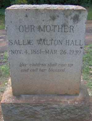 WALTON HALL, SALLIE - Orange County, Virginia | SALLIE WALTON HALL - Virginia Gravestone Photos