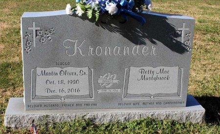 KRONANDER, MARTIN OLIVER SR. - Orange County, Virginia | MARTIN OLIVER SR. KRONANDER - Virginia Gravestone Photos